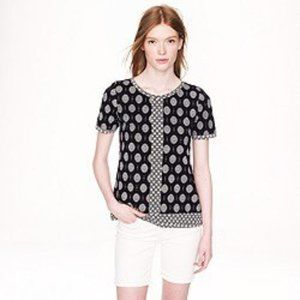 J. Crew Printed Short Sleeve Women Blouse Size S